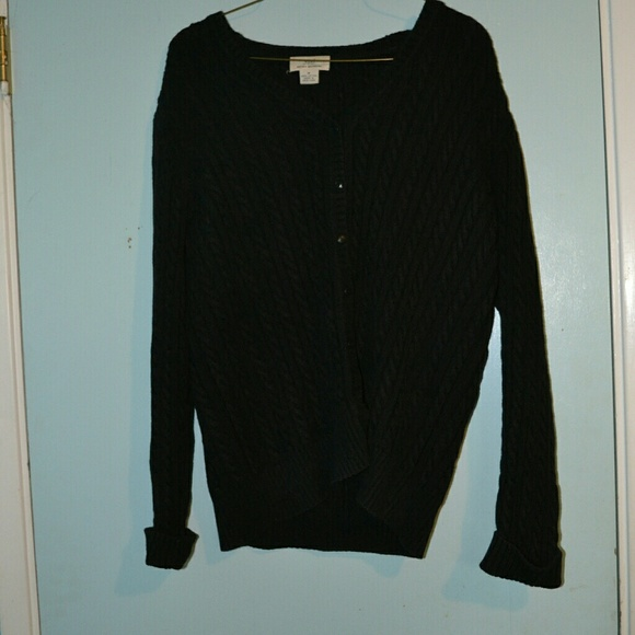 Brooks Brothers Sweaters - Black Cable Cardigan